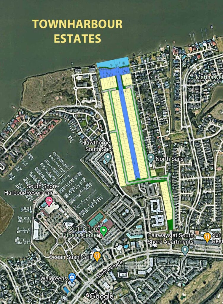 TownHarbour Aerial with Plan