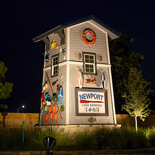 Waterfront living in Newport Lake Estates.