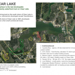 Last developable waterfront on Clear Lake.